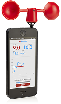 Vaavud Wind Meter for iPhone/Android - Red