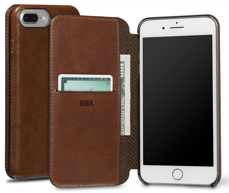 Sena iPhone 7 Plus Ultra Thin Wallet Book - Cognac
