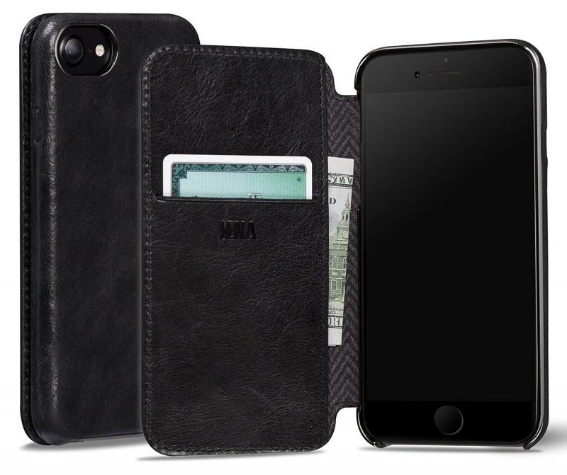 Sena iPhone 7 Ultra Thin Wallet Book - Black