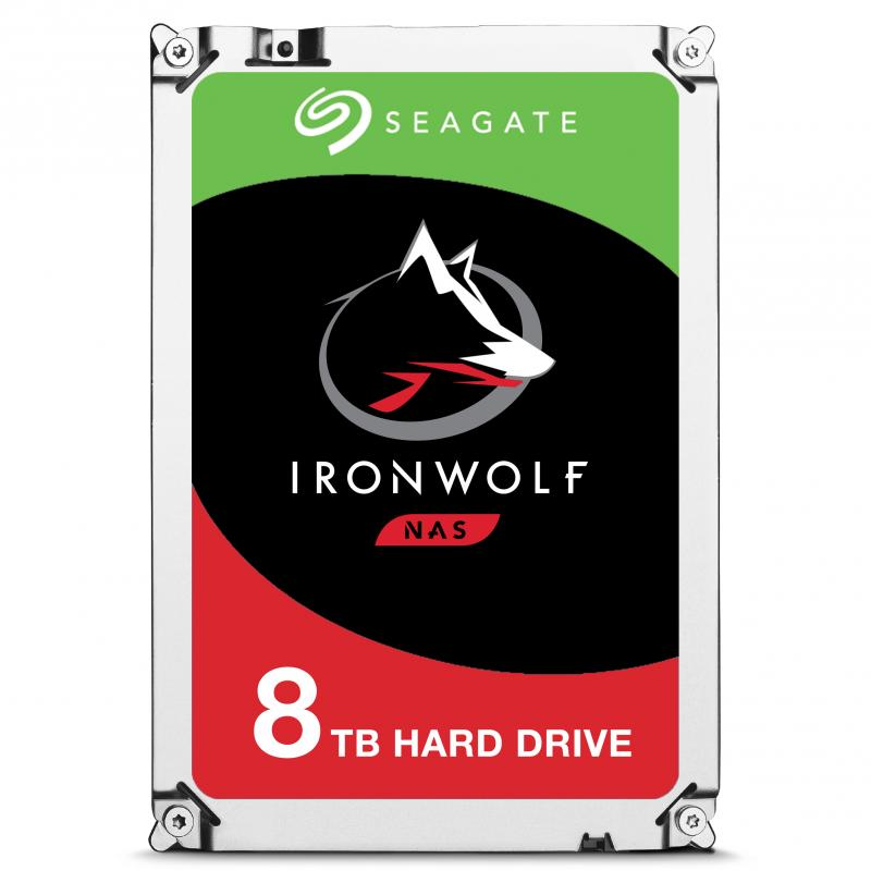 Disco 3.5 8TB SEAGATE IronWolf 256Mb SATA 6Gb/s 72rp-NAS