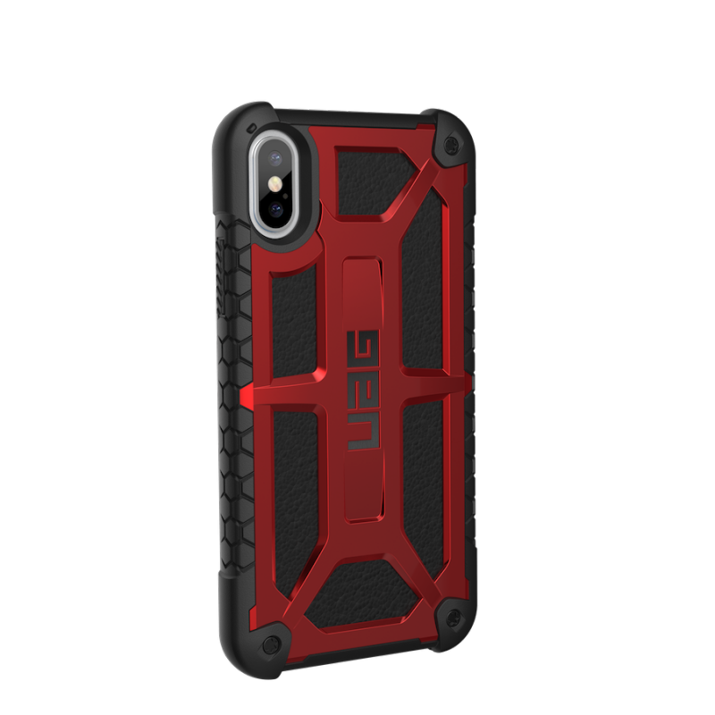 Urban Armor Gear iPhone X Monarch Case- Crimson/Black/Black