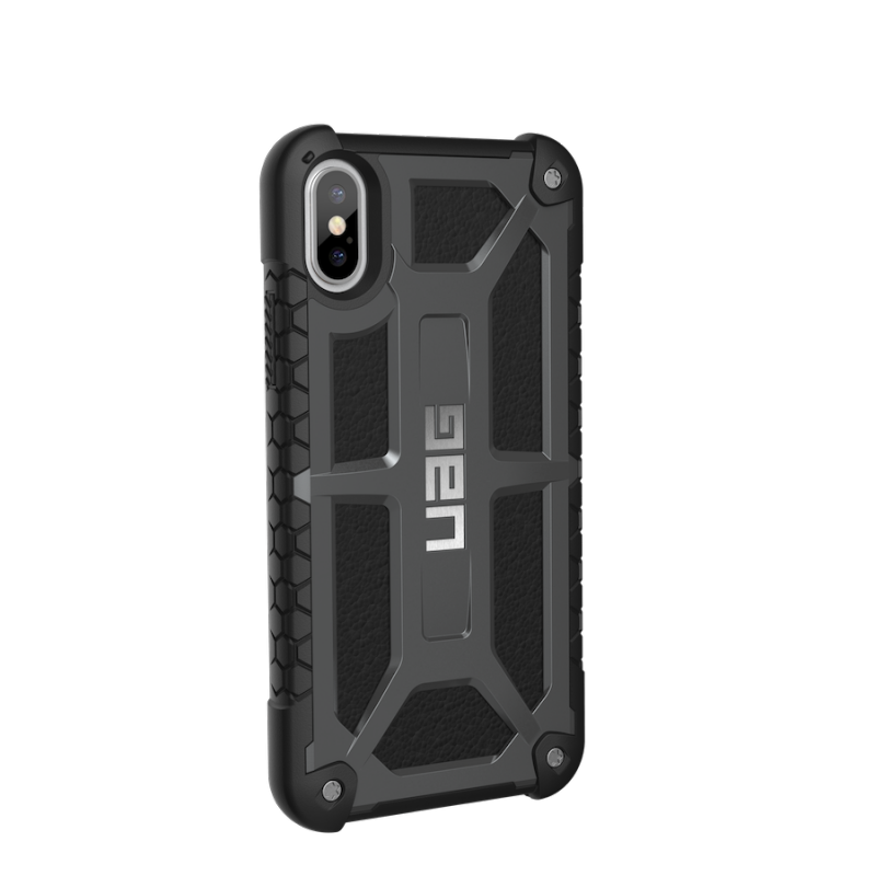 Urban Armor Gear iPhone X Monarch Case- Graphite/Black/Silver