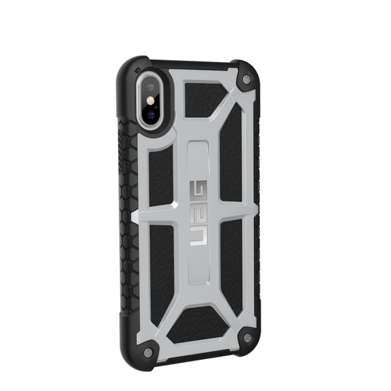 Urban Armor Gear iPhone X Monarch Case- Platinum/Black/Silver