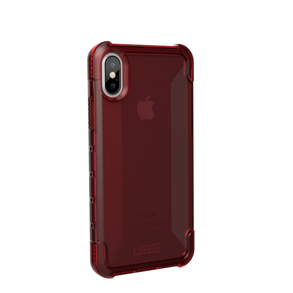 Urban Armor Gear iPhone X Plyo Case- Crimson- Retail Package