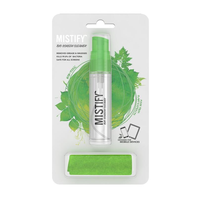Mistify Natural Screen Cleaner 40ml. + Antibacterial Microfibre Cloth