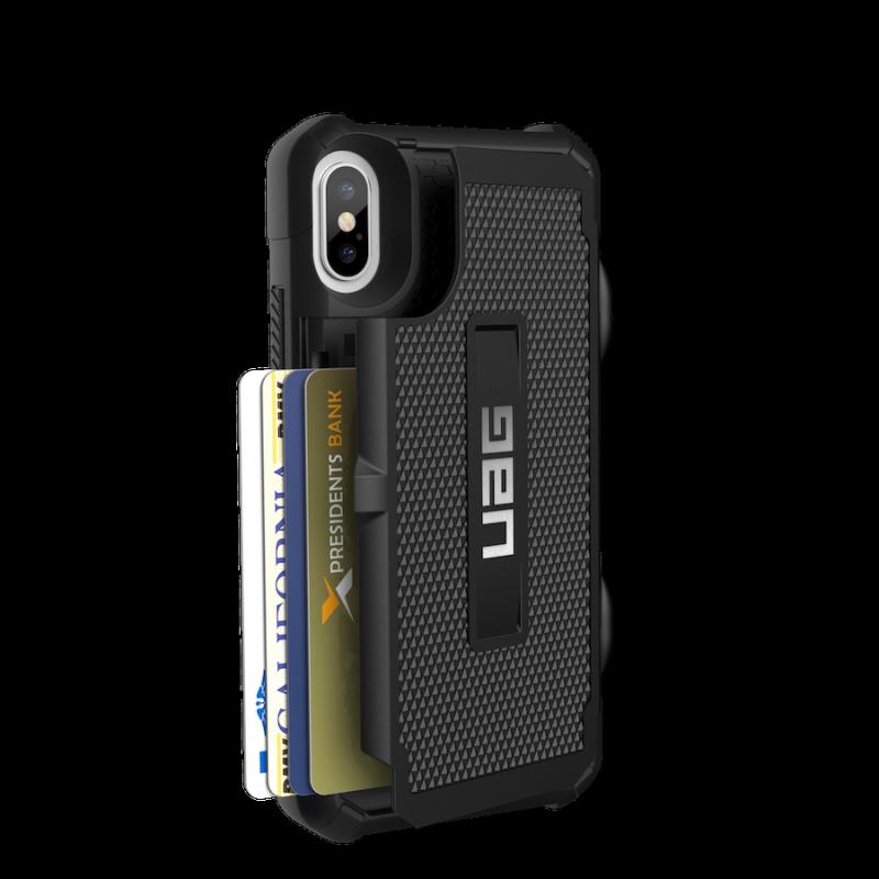 Urban Armor Gear iPhone X Trooper Case- Black/Silver
