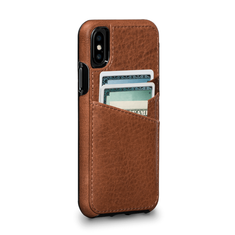 Sena iPhone XS / X Bence Lugano Wallet Saddle (Brown)