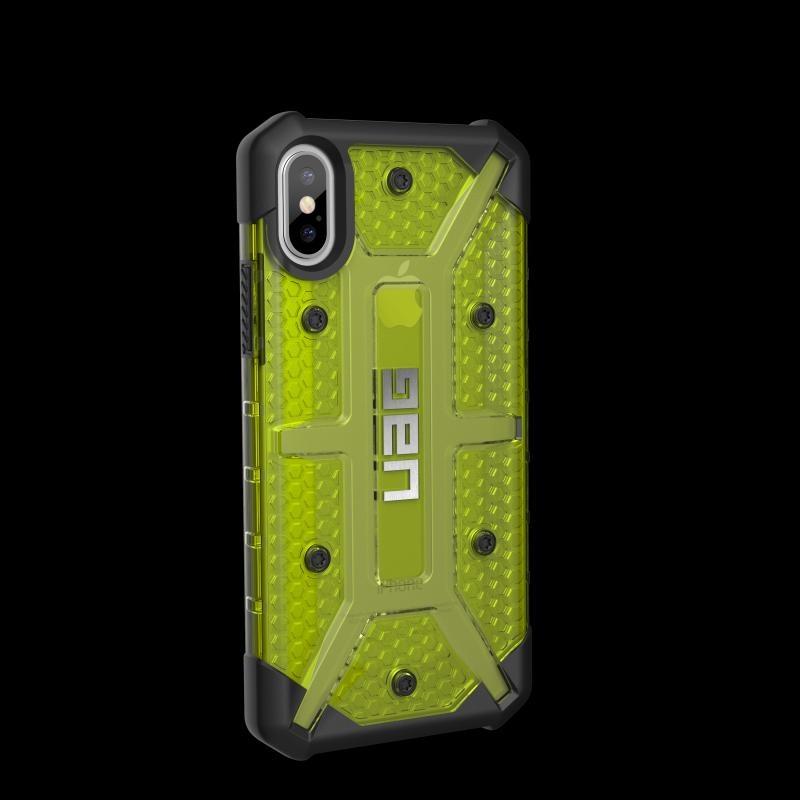 Urban Armor Gear iPhone X Plasma Case- Citron/Black/Silver