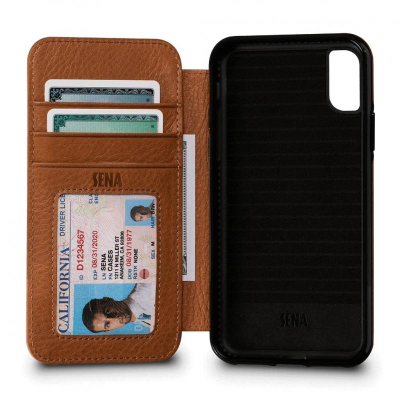 Sena iPhone X Bence Wallet Book Saddle (Brown)