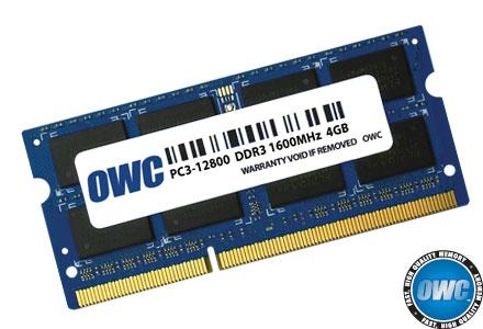 OWC - 4.0GB PC3-12800 1600MHz SO-DIMM 204 Pin w/Lifetime Warranty
