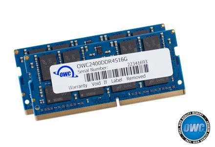 OWC - 32.0GB PC4-19200 2400MHz SO-Dimm Kit (16GB x 2) w/Lifetime Warranty