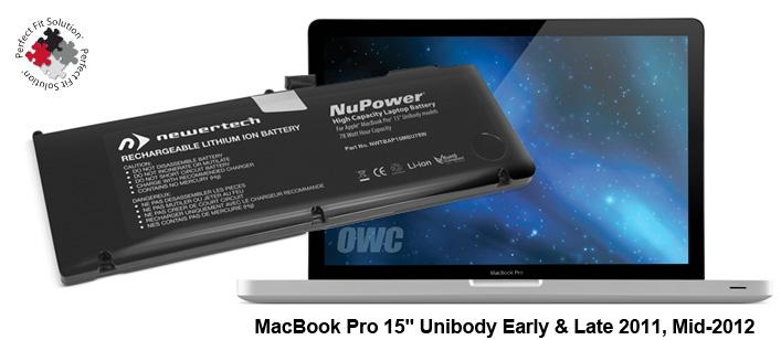 Battery MacBook Pro 15' Unibody Early 2011 till Mid-2012 + Tools