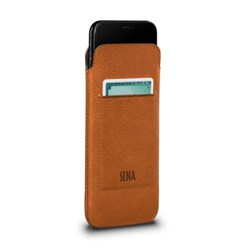 Sena Bence UltraSlim Wallet iPhone XS / X Tan