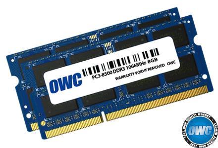 OWC - Memory 16GB KIT (2X8GB) SO-DIMM PC8500 1066MHz