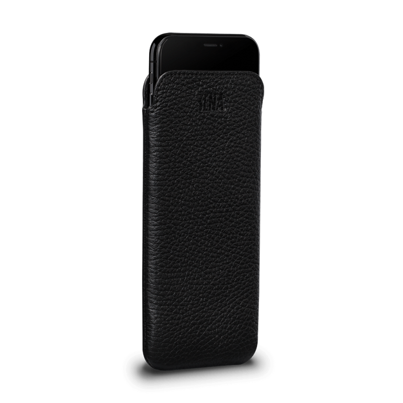 Sena UltraSlim Black Leather Sleeve for iPhone XR