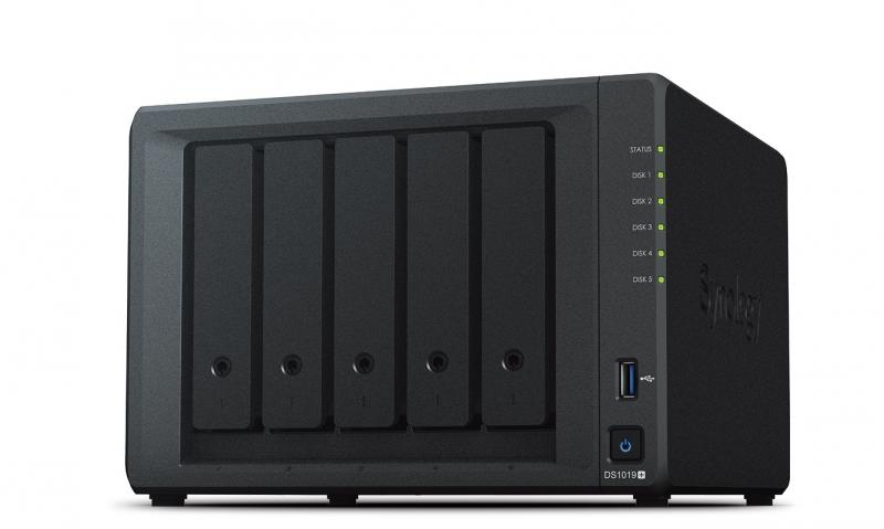 SYNOLOGY Servidor DS1019+ - 5 baías SATA Hot-Swap