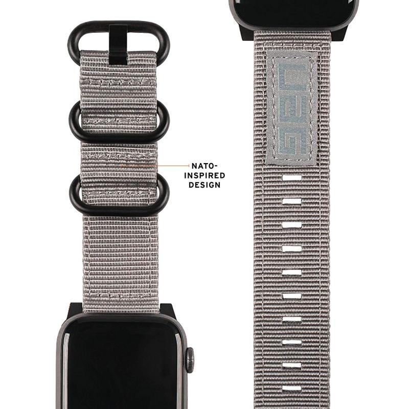 Urban Armor Gear Apple Watch 40'/38' Nato Strap- Grey