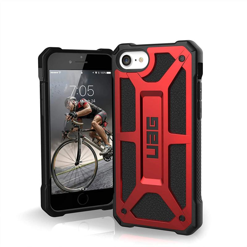 Urban Armor Gear Apple SE 2020 Monarch- Crimson - 5 layer protection- 2x drop-tested- 10 yr warranty