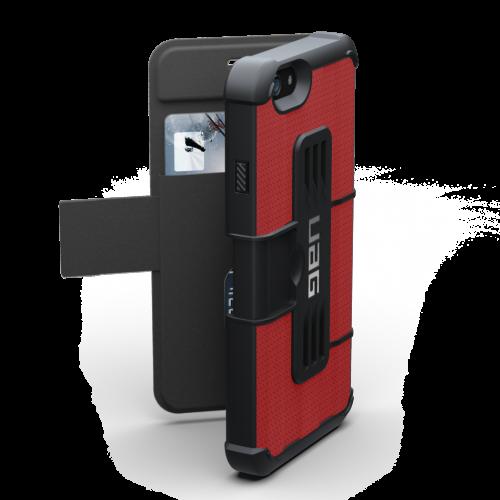 Urban Armor Gear iPhone 6/6S (4.7 Screen) Folio Case-Red/Black