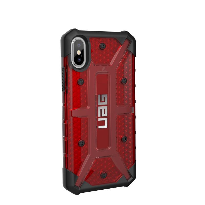 Urban Armor Gear iPhone X Plasma Case- Magma/Black/Silver