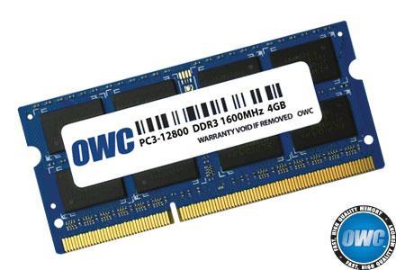 OWC - 4.0GB PC3-12800 1600MHz SO-DIMM 204 Pin w/Lifetime Warranty