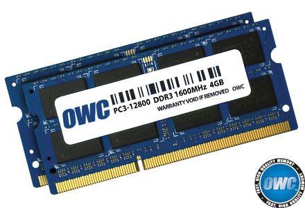 8.0GB PC3-12800 1600MHz SO Kit (4GB + 4GB) w/Lifetime Warranty