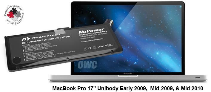 Battery MacBook Pro 17' Unibody Early 2009 till Mid 2010 + Tools
