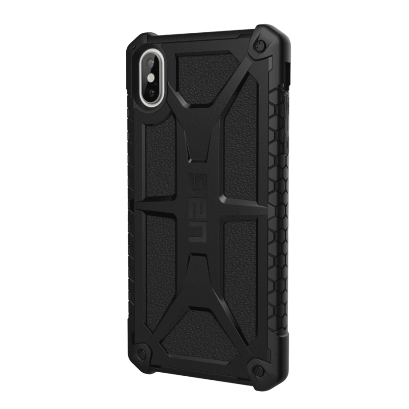 Urban Armor Gear Apple iPhone XS Max (6.5'screen) Monarch- Black (matte) w Black Leather