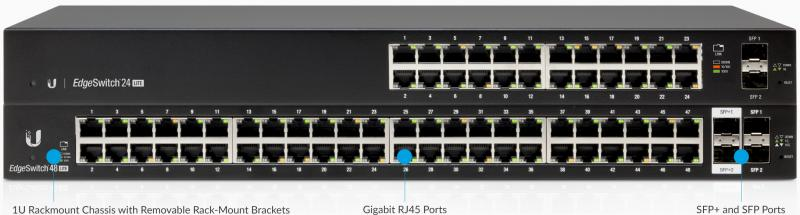 Ubiquiti EdgeSwitch, 48-port, Lite, Non-POE