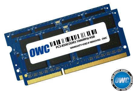 OWC - Memory 8GB KIT (2X4GB) SO-DIMM PC8500 1066MHz