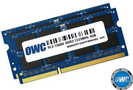 Memory 8GB KIT (2x4GB) SO-DIMM PC10600 1333MHz