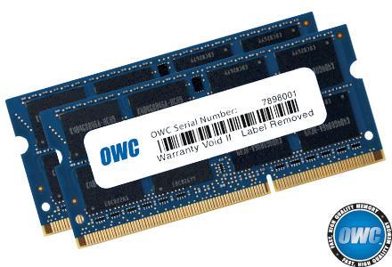 OWC - 16.0GB PC3-12800 1600MHz SO Kit (8GB + 8GB) w/Lifetime Warranty