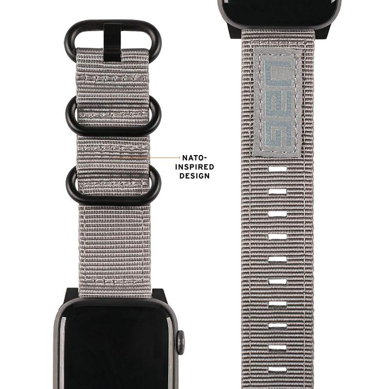 Urban Armor Gear Apple Watch 44'/42' Nato Strap- Grey