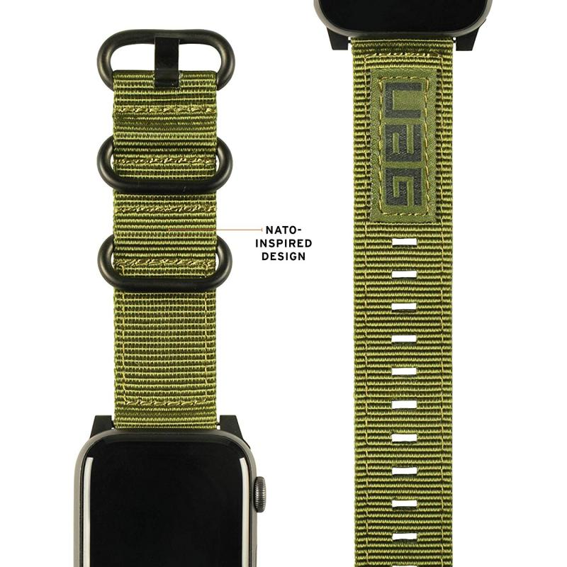 Urban Armor Gear Apple Watch 44'/42' Nato Strap- Olive Drab