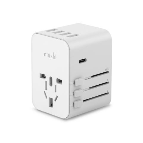 Moshi - World Travel Adapter with USB-C Port