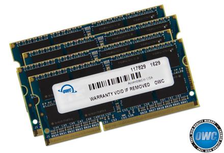 OWC - Memory 64GB Kit (4x16GB) SO-DIMM PC3-12800 1600MHz