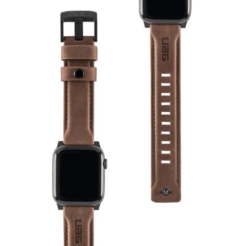 Urban Armor Gear Apple Watch 44'/42' Leather Strap- Brown
