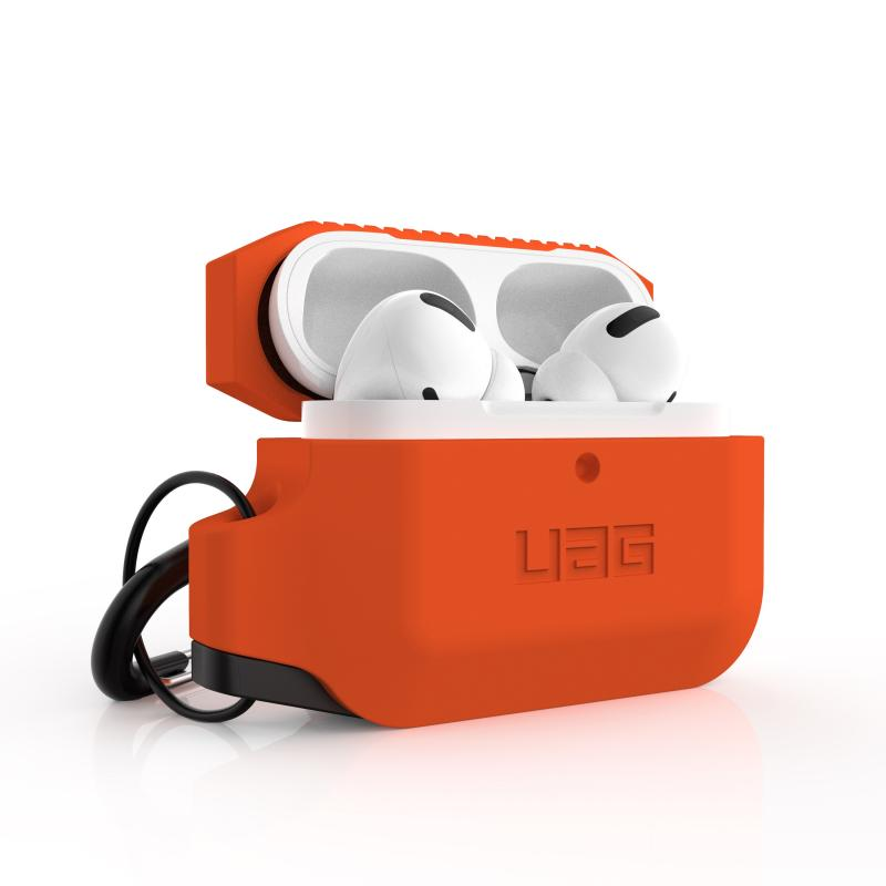 Urban Armor Gear Apple Airpod Pro Silicone Case- Orange/Black