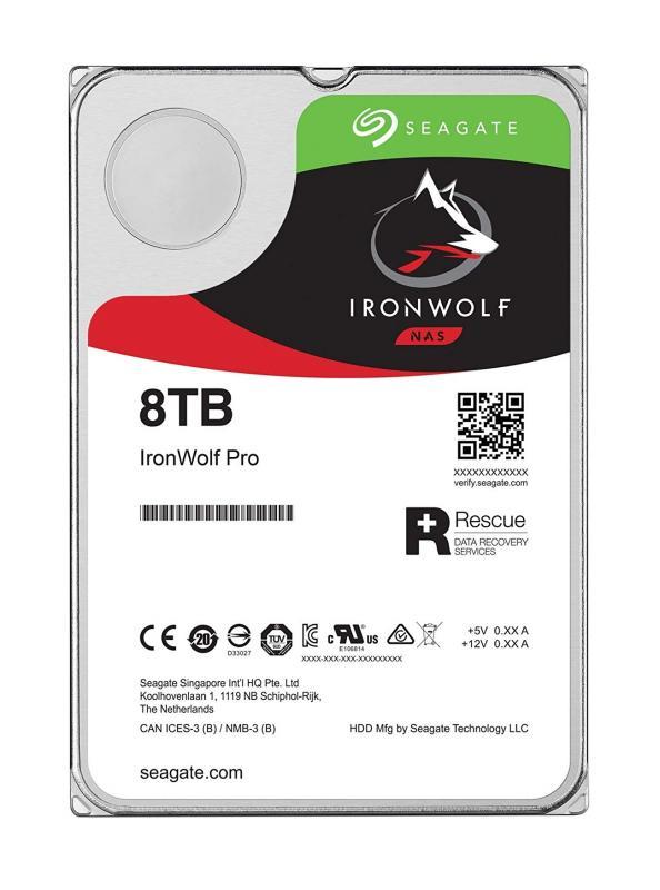 Disco 3.5 8TB SEAGATE IronWolf 256Mb SATA 6Gb/s 72rp