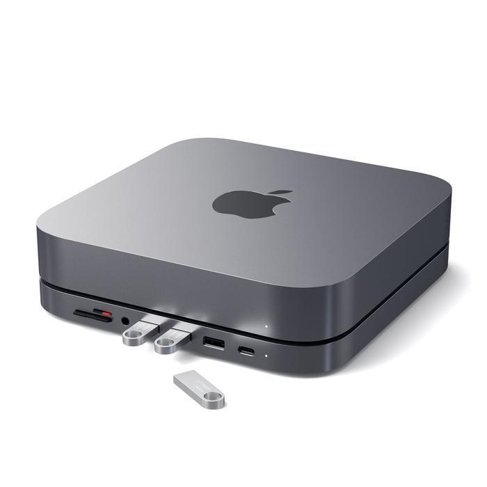 Satechi - Type-C Aluminum Stand & Hub for Mac Mini